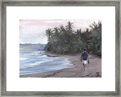 Morning Walk Framed Print by Sarah Lynch