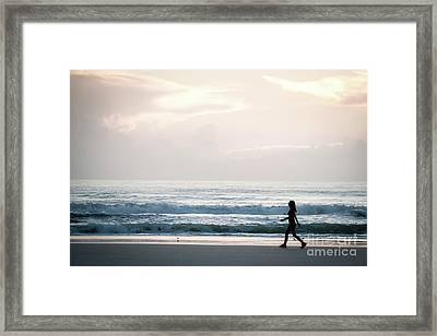 Morning Walk With Color Framed Print