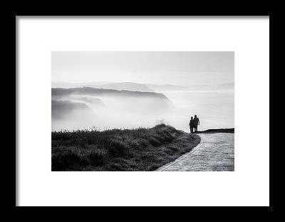 Morning Walk Framed Prints