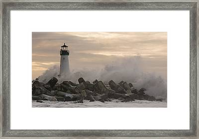 Morning Wave Framed Print by Bruce Frye