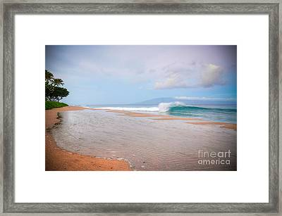 Framed Print featuring the photograph Morning Wave by Kelly Wade