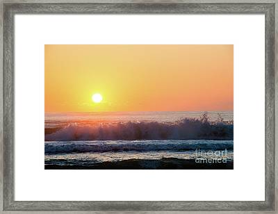 Morning Waves Framed Print