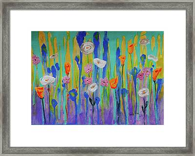 Morning Wildflowers Framed Print
