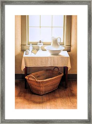 Morning Window At Old World Wisconsin Framed Print by Christopher Arndt