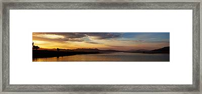 Morning's Colors Panorama Framed Print