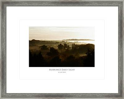 Framed Print featuring the digital art Morning's Early Light by Julian Perry