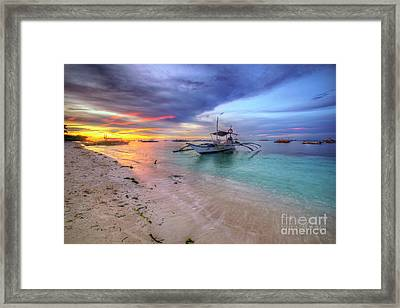 Framed Print featuring the photograph Morningtide 2.0 by Yhun Suarez