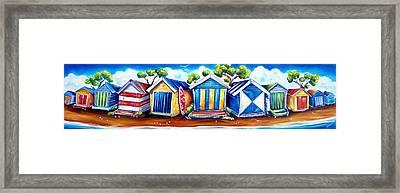 Mornington Beach Huts Framed Print
