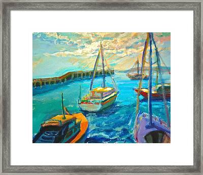 Mornington Pier Framed Print by Yen