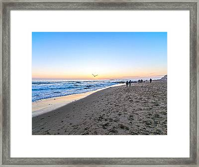 Framed Print featuring the photograph Moro Sunset by Anthony Baatz