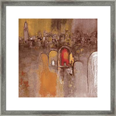 Moroccan Architecture 182 I Framed Print by Mawra Tahreem