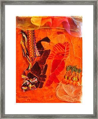 Moroccan Bazaar Framed Print