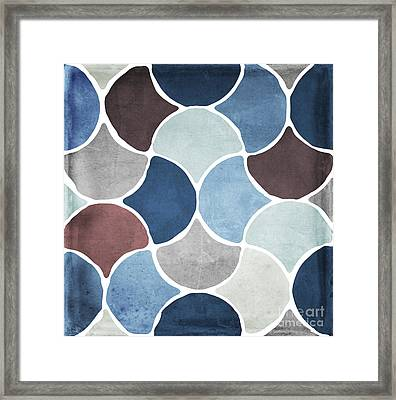 Moroccan Blues  Framed Print by Mindy Sommers