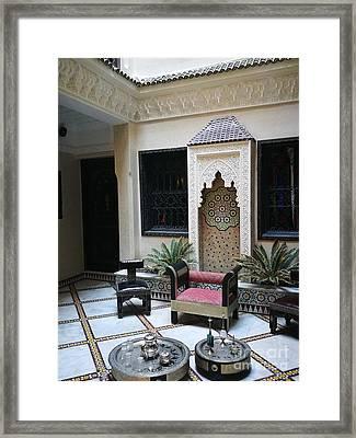 Moroccan Courtyard Framed Print by Jarek Filipowicz