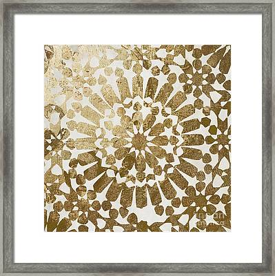 Moroccan Gold II Framed Print by Mindy Sommers