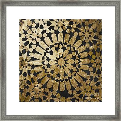Moroccan Gold Iv Framed Print by Mindy Sommers