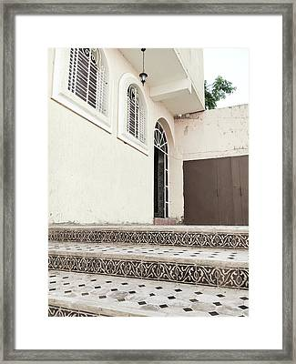 Moroccan House Framed Print by Tom Gowanlock
