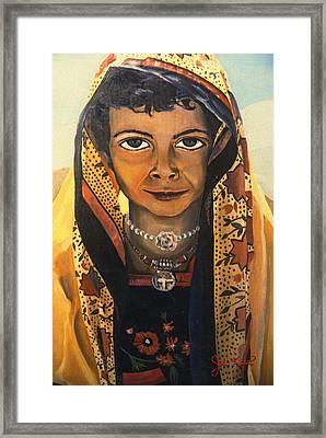 Moroccan Smile Framed Print by John Keaton