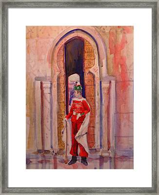 Moroccan Soldier Framed Print by Joyce Kanyuk