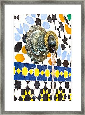 Moroccan Tap Framed Print