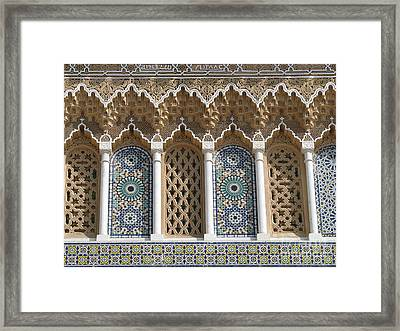 Framed Print featuring the photograph Moroccan Tile by Erik Falkensteen
