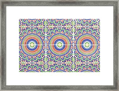 Moroccan Tiles Framed Print by Tom Gowanlock