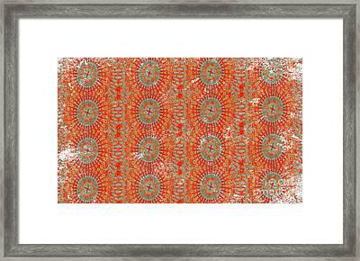 Moroccan Tribal Hot Framed Print