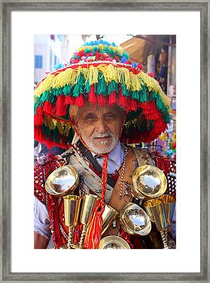 Framed Print featuring the photograph Moroccan Water Seller by Ramona Johnston