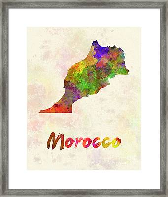 Morocco In Watercolor Framed Print by Pablo Romero