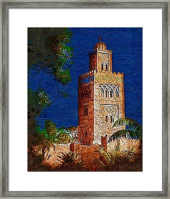 Morocco Pavilion In Epcot Framed Print