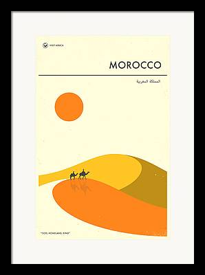 Moroccan Digital Art Framed Prints