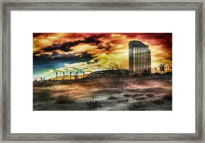 Morongo Casino Sunset Framed Print