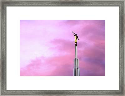 Moroni At Dawn Framed Print