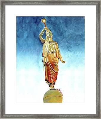 Moroni Framed Print by Carla Palmer