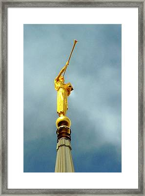 Moroni's Trump Framed Print by Mark Cheney