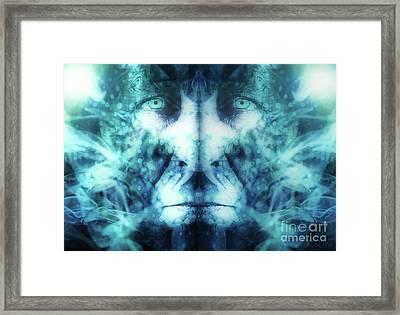 Morphing Man Framed Print by KaFra Art