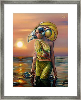Morrigan's Mask Framed Print by Patrick Anthony Pierson