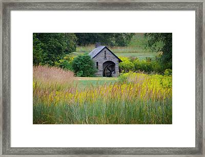 Framed Print featuring the photograph Morris Arboretum Mill In September by Bill Cannon