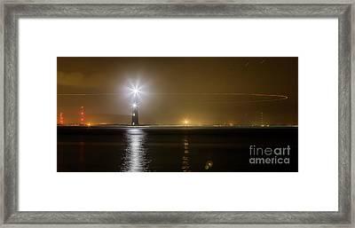 Morris Island Light House 140 Year Anniversary Lighting Framed Print by Dustin K Ryan