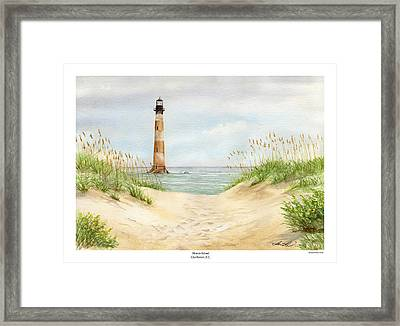 Morris Island Light House Framed Print