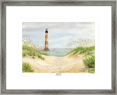 Morris Island Light House Framed Print by Lane Owen