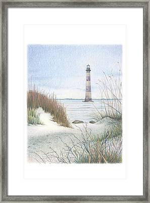Morris Island Light Framed Print by Todd Baxter