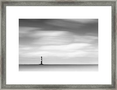 Morris Island Lighthouse Bw Framed Print by Ivo Kerssemakers