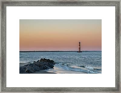 Morris Island Lighthouse Framed Print by Drew Castelhano