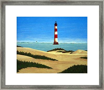 Morris Island Lighthouse Framed Print by Frederic Kohli