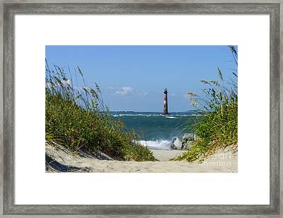Morris Island Lighthouse Walkway Framed Print