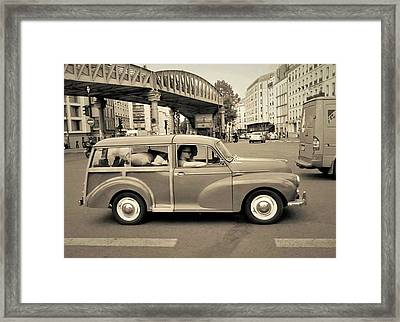 Morris Minor Traveller Framed Print