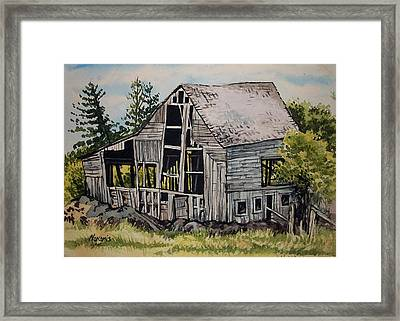 Morristown Barn Ny Framed Print