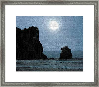 Morro Bay Rock Framed Print by Joe Bonita