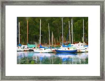 Morro Bay Sail Boats Framed Print